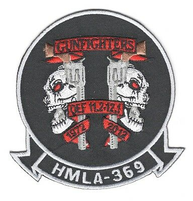 USMC Marine patch:  Light Attack Helicopter Squadron 369 - HMLA-369, OEF