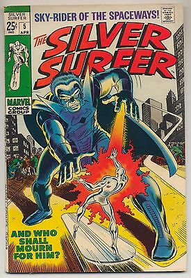 Silver Surfer #5 (1969) Fine (6.0) ~ Marvel ~ The Stranger App.
