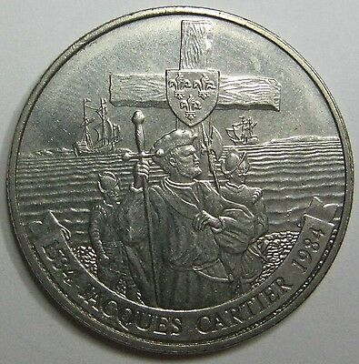 1984 ( JACQUES CARTIER) Canada/Canadian $1 Nickel Dollar Coin
