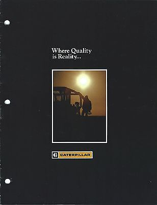 Equipment Brochure - Caterpillar - Quality Reality Product Overview (E3218)