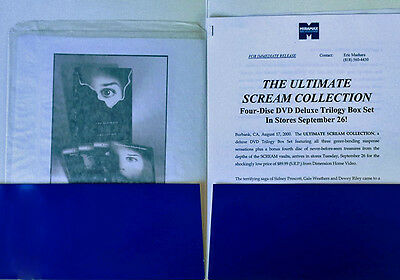 Ultimate Scream Collection  - Dvd Press Kit - (3) B&w Stills - Custom Folder
