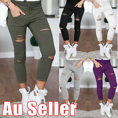 Fashion Women Casual Skinny Stretch Slim Fit Pencil Pants Trousers Leggings New