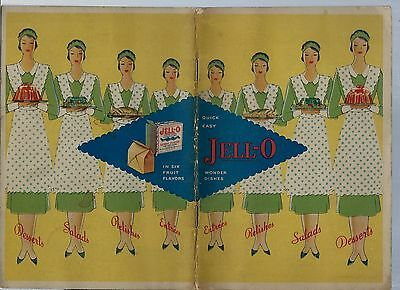 1930 Quick Easy Jell-O Wonder Dishes Recipe Book