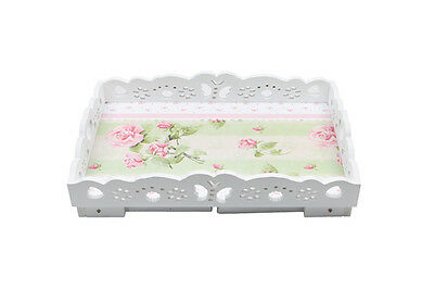 Shabby Chic Vintage Serving Tray Tea Breakfast Bed Lap Tv Home Dinner Luxury