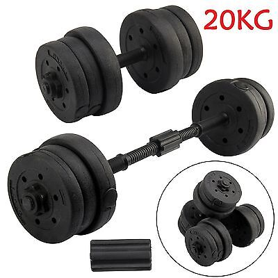 20KG Dumbbells Set Weights Biceps Training Fitness Workout Gym Weights Lifting
