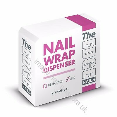 SILK Nail Wrap Dispenser THE EDGE 2.7 M Easy To Use For Nail Tips & Extensions