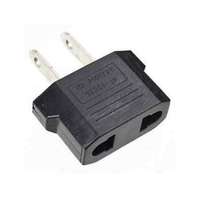 European EU to American US USA Wall Plug Outlet Travel Adapter Jack Converter