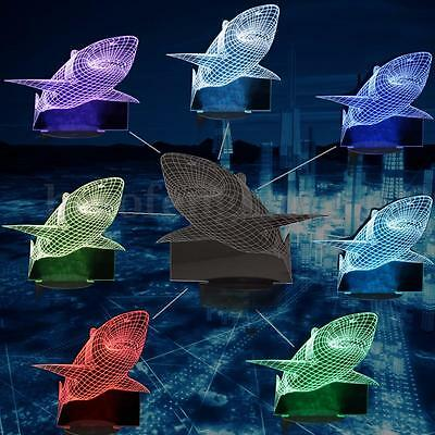 3D Jaws Shark Touch Control 7 Color Change LED Desk Table Light Lamp Home Decor
