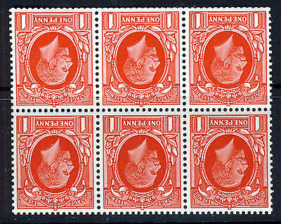 GB KG V 1935 1d Photogravure Booklet Pane INVERTED WMK Small Format SG NB23a MNH