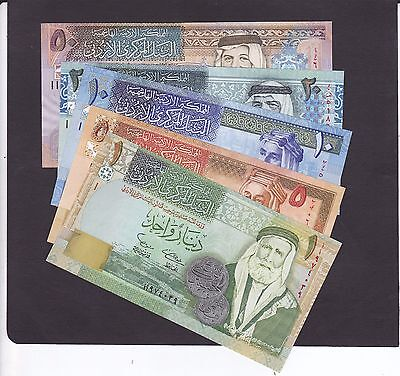JORDAN COMPLETE 5 PCS. SET OF 2002 ISSUE  P.34a-38a IN UNC COND.