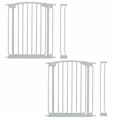 2 x Dreambaby Hallway Baby Gates White Multi Pack Stair Gates to Fit 71-100cm