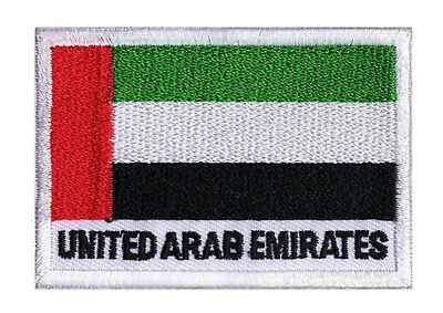 Ecusson brodé à coudre patche drapeau patch UAE Emirats Arabes Unis 70 x 45 mm