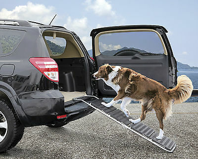 Large Dog Ramp Anti Slip Safety Folding Portable Pet Ladder Ramp Car Assist