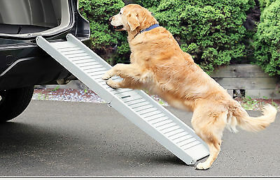 Lightweight Dog Ramp Anti Slip Safety Folding Portable Pet  Ramp Car Assist