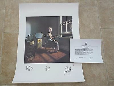 RUSH Band Signed Autographed Lithogrpaph Poster All 3  #423 of 500 Power Windows