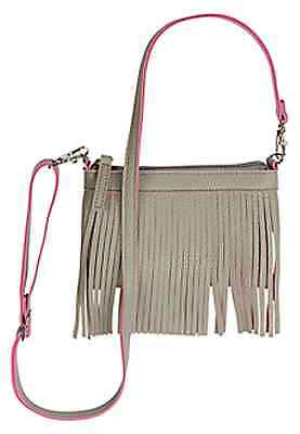 Justice Girl's FRINGE 2 in 1 Cross Body Bag in CLOUDY HEATHER Faux Leather NWT