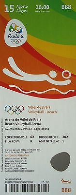 mint TICKET 15.8.2016 Olympia Rio Beachvolleyball # B88