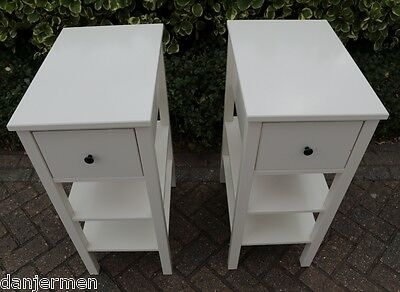 ikea hemnes 2 x bedside tables white 163 45 44 picclick uk