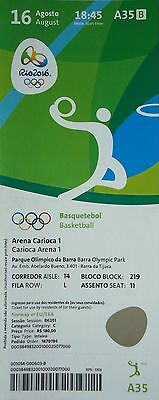 TICKET 16.8.2016 Olympia Rio Basketball Women's USA - Japan # A35