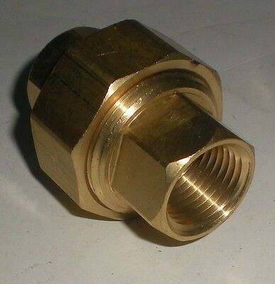 "Union Coupling Fairview Brass Union Coupling 104-D 12"" Fpt New"