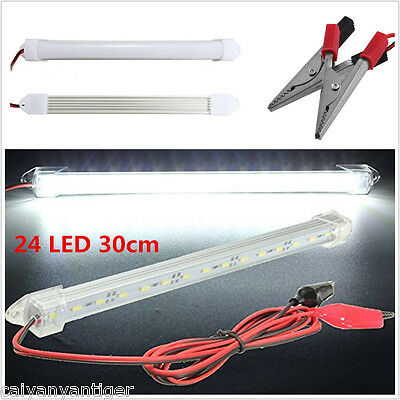 12V Car 24LED SMD Interior Light Bar Tube Strip Lamp Boat Caravan Motorhome 30CM
