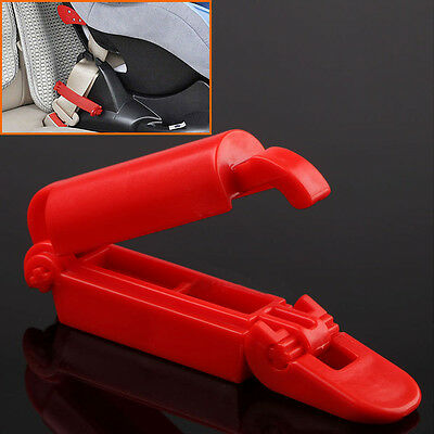 Red Safety Gear Car Seat Belt Clip Locking Fixed Skid For Baby Kids Toddle AU