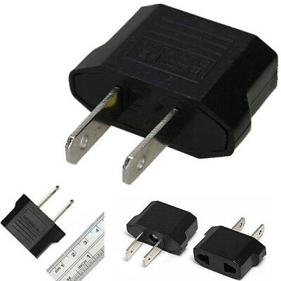 European EU to American US USA Charger Adapter Converter Wall Plug Home Travel