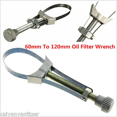 Car SUV Oil Filter Removal Tool Strap Wrench 60mm To 120mm Diameter Adjustable