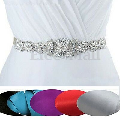 Vintage Handmade Pearl Ivory Bridal Sash Crystal Rhinestones Wedding Dress Belt