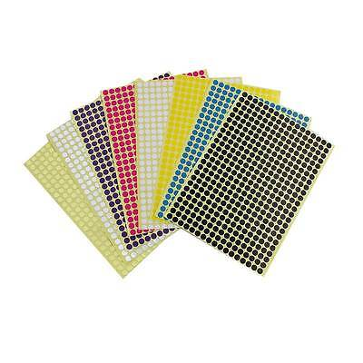 408 x 6mm Coloured DOT STICKERS Round Sticky Adhesive Spot Circles Paper Labels