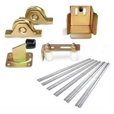Sliding Gate Hardware Accessories Kit - 6m Track, Wheels, Stopper, Roller Guide