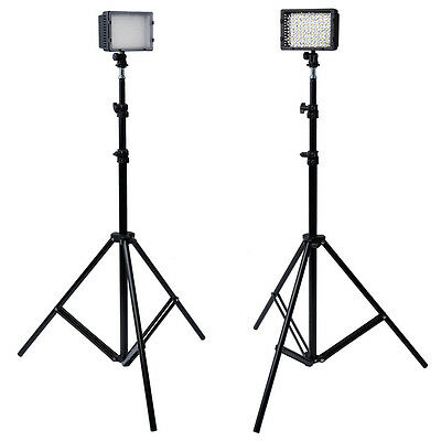 NEEWER 2 Pcs Photography 126 LED Studio Lighting for Camcorded and Light Stand