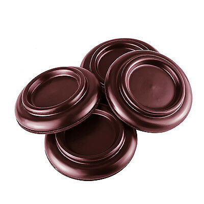 Neewer 4 Pack Solid Wood Piano Caster Cups with Anti-Noise Foam Pad, Brown