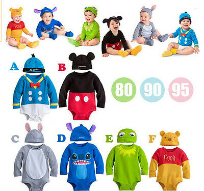 Baby Toddler Boy Girl Fancy Animal Clothes Romper Jumpsuit Outfit Hat Cosplay