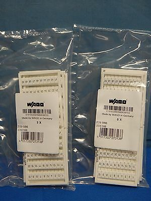 10 NEW Wago 209-566, 1 to 50 Terminal Markers