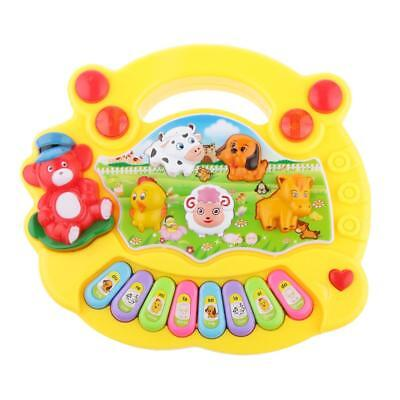 Farm Style Kick & Play Piano Musical Animal Activity Gym Soft Mat Toys Xmas