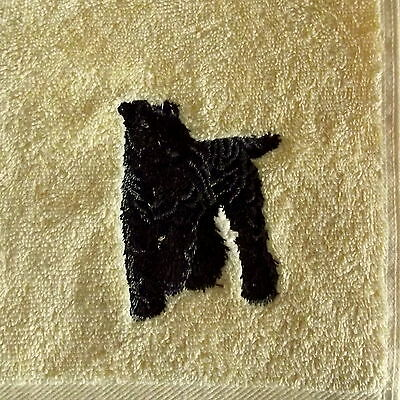Kerry Blue terrier Dog Embroidered Hand Towel, Dog Gift, Dog Towel