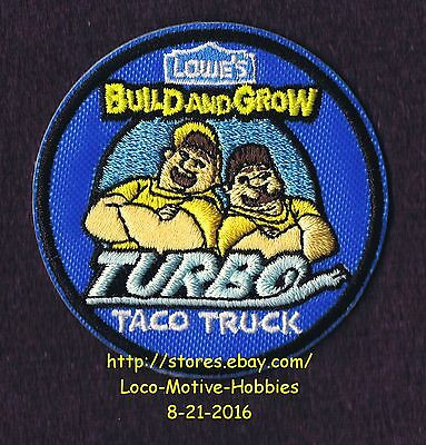 LMH PATCH Badge 2014 TURBO TACO TRUCK  Mexican Food LOWES Build Grow Kids Clinic