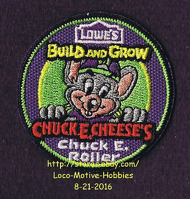 LMH PATCH Badge 2012 CHUCK E CHEESE's Cheese Roller LOWES Build Grow Kids Clinic