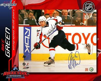8043df3efd3 Mike Green SIGNED Washington Capitals Slapshot 16X20 Photo - Detroit Red  Wings