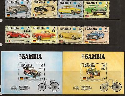 Gambia 1986 Old Cars Sc # 620-629 Mnh