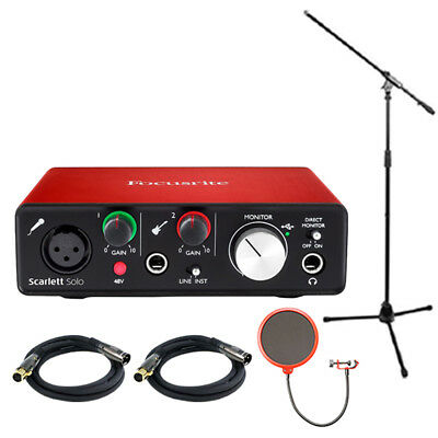 Focusrite Scarlett Solo USB Audio Interface (2nd Generation) w/ Pro Tools Bundle