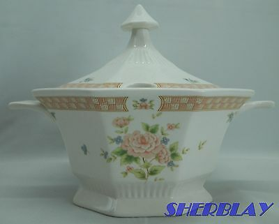 Nikko Classic Collection CAMEO ROSE Taureen Gravy Sauce Boat Dish w/ Lid