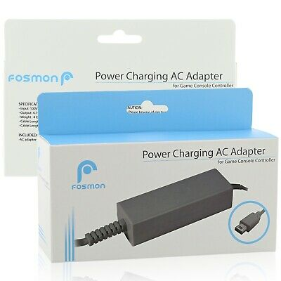 Fosmon AC Power Suppy Charging Adapter Cable Cord For Nintendo Wii U Gamepad