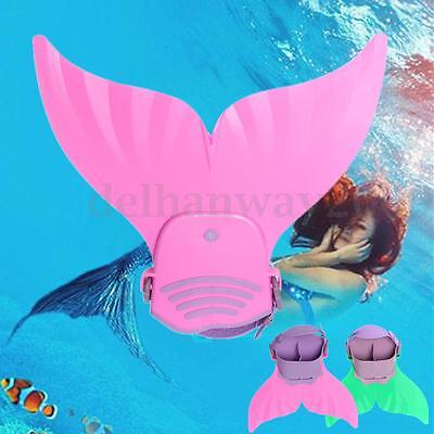 Mermaid Tail MonoFin Flippers Swimming Swim Toy Prop Summer For Kids Girls Gift