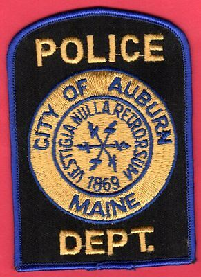 Auburn Maine Police Shoulder Patch