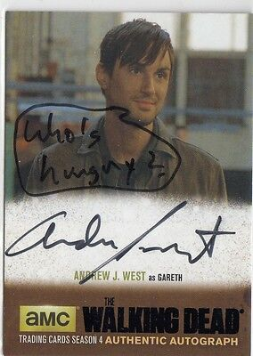 The Walking Dead Season 4 Part 2 - Ajw1 Andrew J. West Gareth Autograph Variant