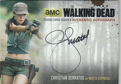 The Walking Dead Season 4 Part 2 - Cs2 Christian Serratos Rosita Autograph Card