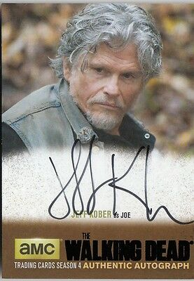 The Walking Dead Season 4 Part 2 - Jk1 Jeff Kober (Joe) Autograph Black Parallel