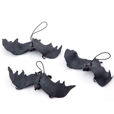Halloween Props Rubber Bats Decor Hanging Adornment Party Home Decoration